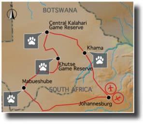 trans kalahari botswana africa safari expedition