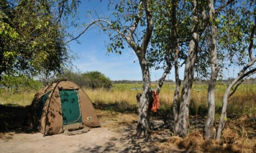 wild camping at its best in Botswana