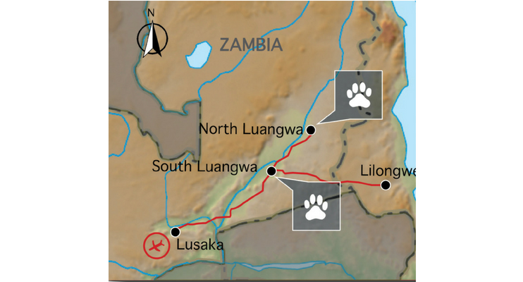 indafrica-sunway-safaris-expeition-northern-zambia-exploring-wildlife-map