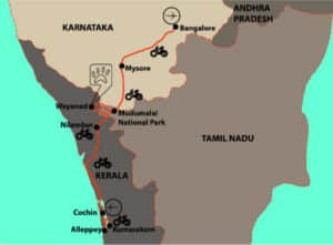 Bangalore to Cochin South India Cycle Tour