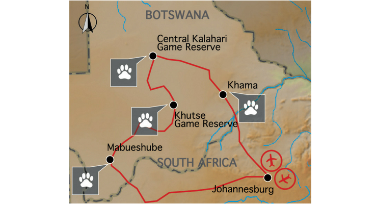 indafrica-sunway-safaris-africa-expedition-botswana-trans-kalahari-map