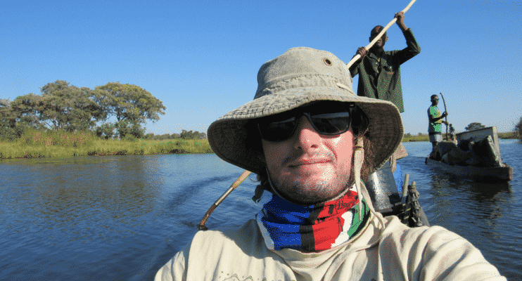 NBa21-sunway-safari-botswana-okavango-delta-mekoro-dugout-swimming-wilderness