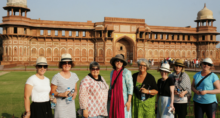 women-only-india-tour-group-at-Agra-Fort