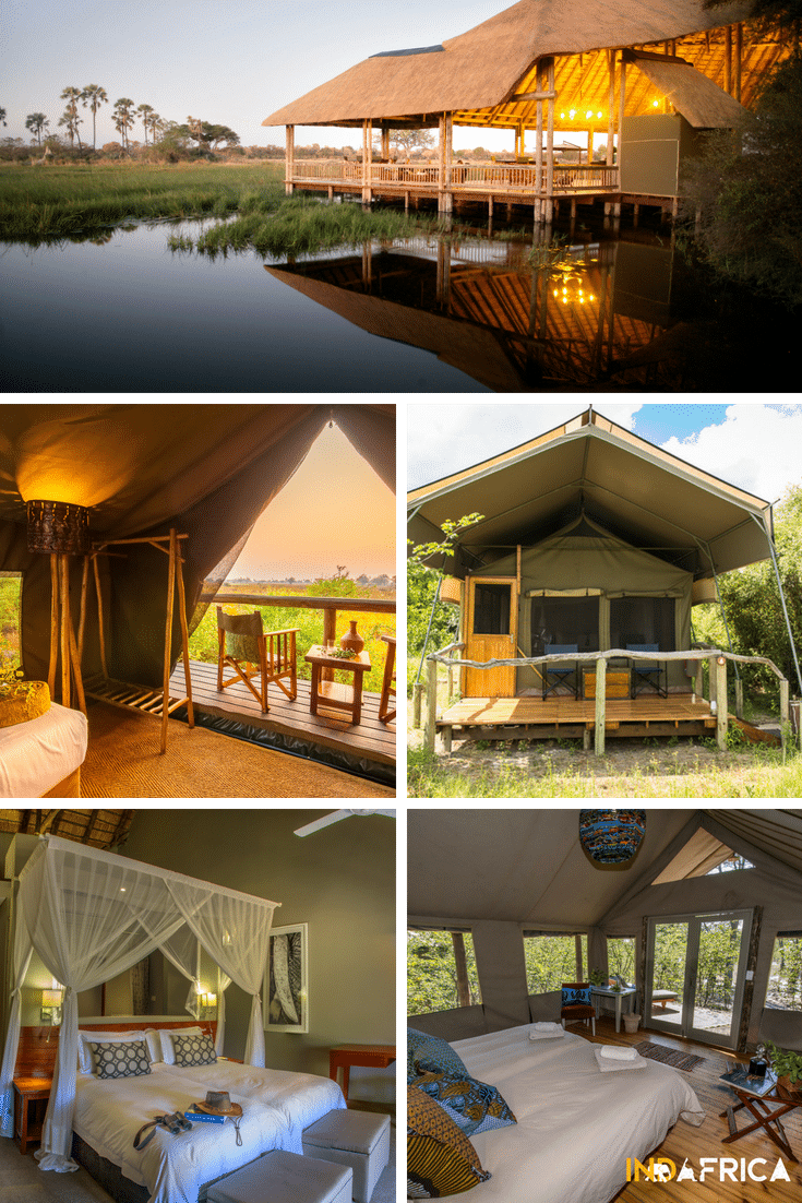 Botswana Safari Costs: Examples Comfort Lodges: Moremi Crossing, Oddballs Enclave, Sango Safari Camp, Chobe Bush Lodge, Hyena Pan Tented Camp