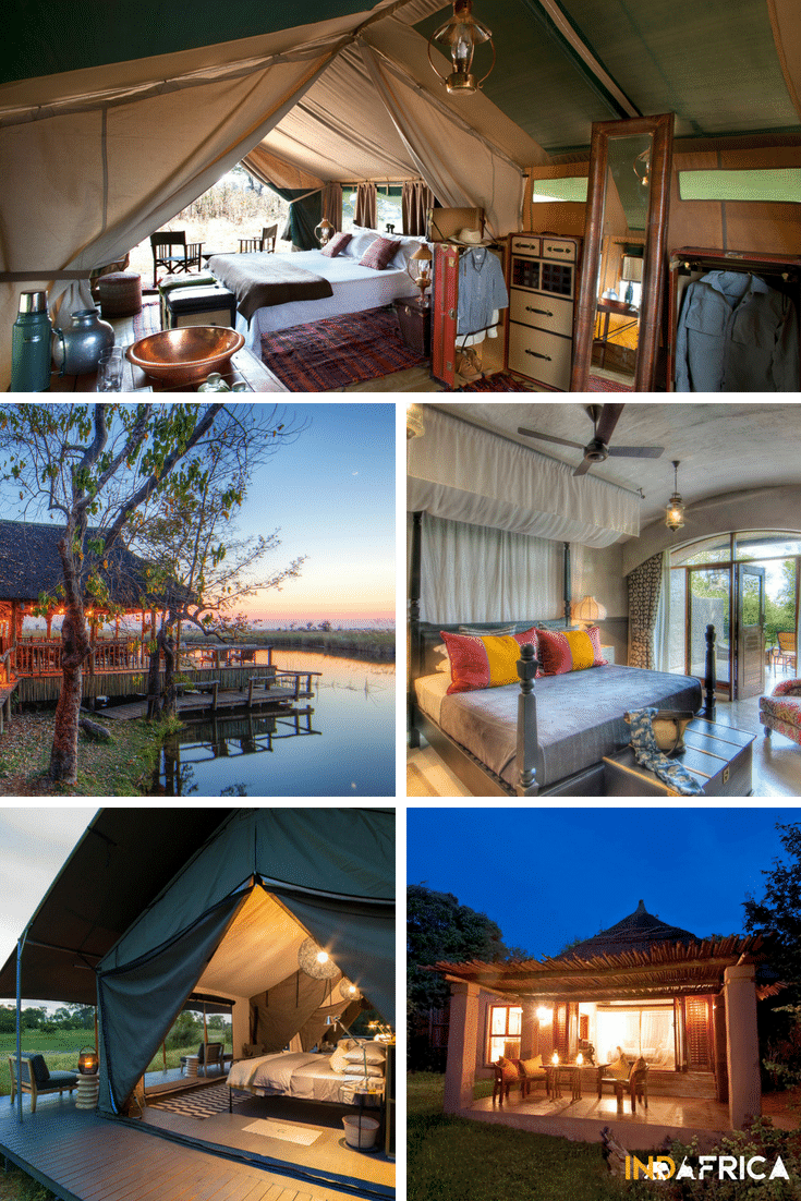 Botswana Safari Costs: Examples of Deluxe Lodges in Botswana: Selinda Explorers Camp, Camp Xakanaxa, Chobe Game Lodge, Gomoti Plains, Chobe Chilwero