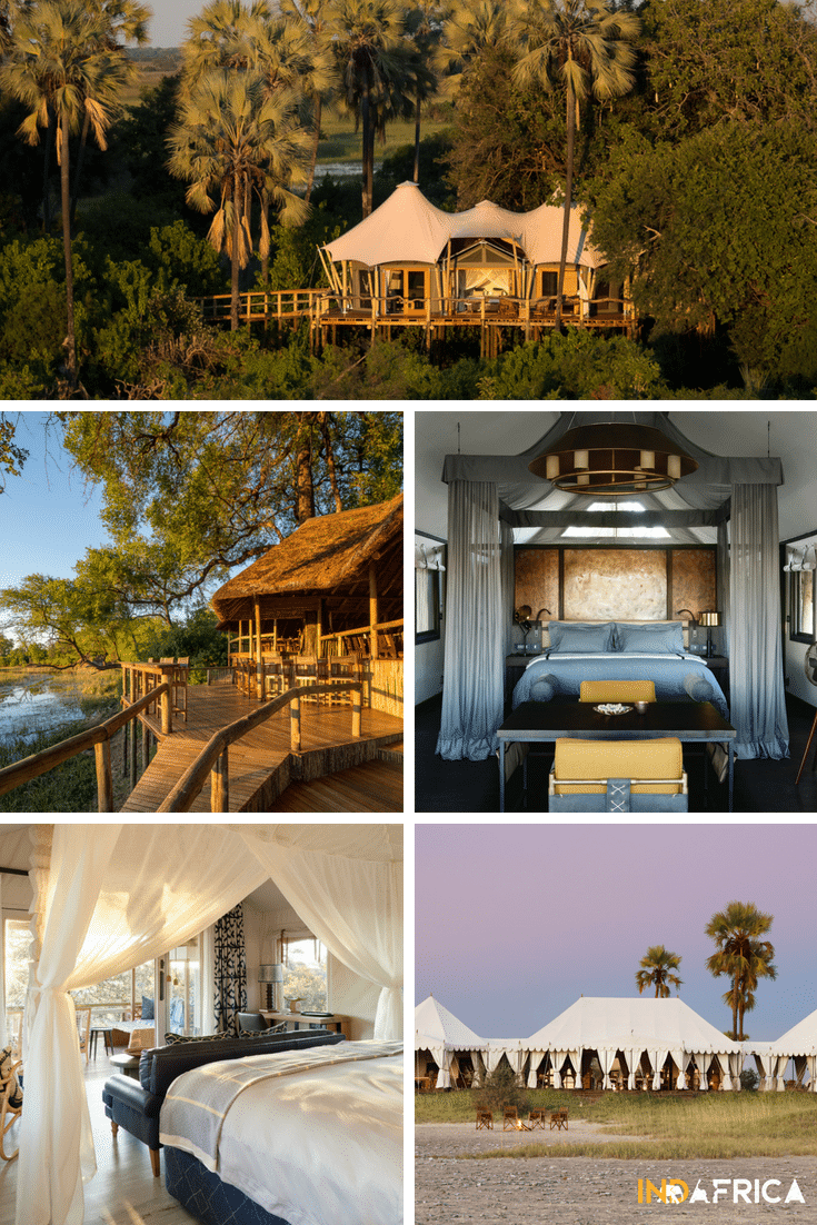Botswana Safari Costs: Examples of Luxury Botswana Lodges: Kwetsani Camp, Savuti Camp, Eagle Island Lodge, Savute Elephant Lodge, San Camp