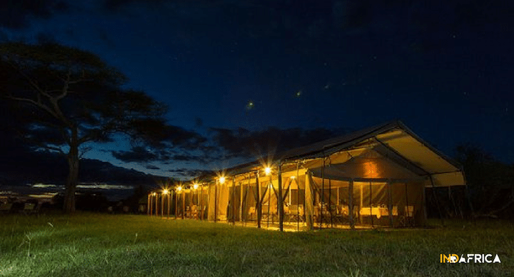 Budget-Tanzania-Safari-Thorn-Tree-Camp-Dining-Serengeti-Indafrica-Travel