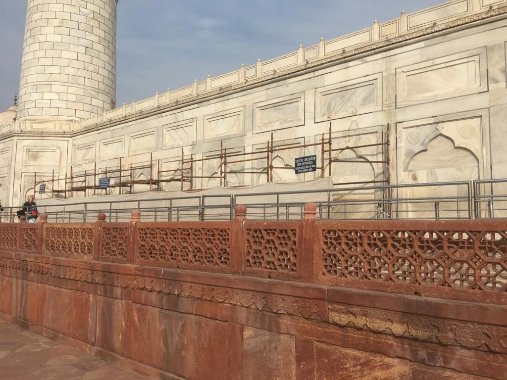Taj Mahal Cleaning Update 25 Jan 2019
