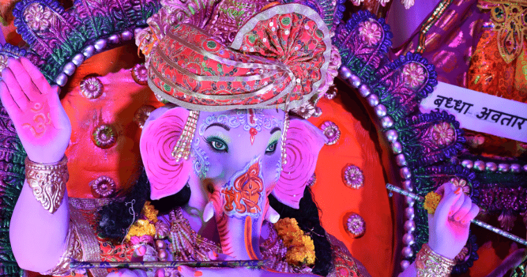 Where to go in India in September. Ganesh Chaturthi is celebrated on a large scale in Mumbai.  Dates for the Festival vary due to the lunar calendar, but often the celebration happens in early September.